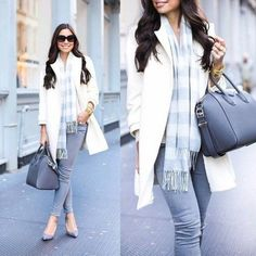long plaid scarf outfit, Daily street style ideas http://www.justtrendygirls.com/daily-street-style-ideas/