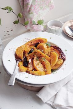 stir fried pumpkin with bengali five spice