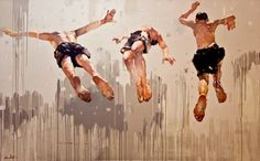 Costa Dvorezky - Jump.Brothers - huge scale, painterly technique