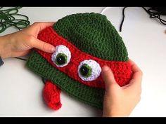 CROCHET TUTORIAL: HOW TO CROCHET A NINJA TURTLE HAT Tutorial - YouTube