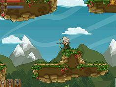 Brave Elf : Mostre habilidades com o arco e flecha para salvar a vila dos duendes maus. Pegue as moedas pelo caminho moedas para desbloquear upgrades ou você não poderá terminar o jogo!