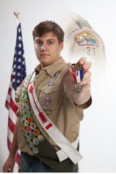 My sons Eagle Scout portrait.