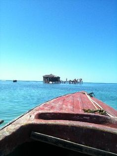 Floyd's Pelican Bar - NEGRIL JAMAICA: bar in the middle of the ocean made entirely out of driftwood!