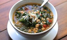 Bean and kale soup: I like soup
