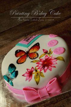 painting birthday cake