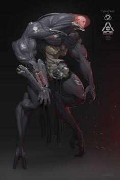 C&C 3 Kane's Wrath Nod Awakened Redesign Impressed by Yeong gyun (obokhan) 's artwork! Fantasy Character Design, Character Design Inspiration, Character Concept, Character Art, Robot Concept Art, Creature Concept Art, Creature Design, Mode Cyberpunk, Cyberpunk Kunst