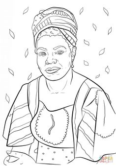 African American Princess Coloring Page