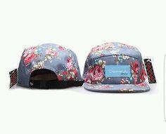 Diamond Supply Co Purple-Gray Floral Print Strapback Hat