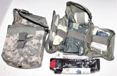 US MILITARY ARMY ACU DIGITAL IMPROVED FIRST AID KIT IN POUCH & SEALED SUPPLIES