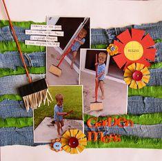 My Scrapbook Evolution: Get It Scrapped: Fringe My Scrapbook, Scrapbooking, Make Photo, Dmc Floss, Basic Grey, Twine, Card Stock, Embellishments, Tassels