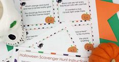 Kids will love this Halloween scavenger hunt with printable clues for not too spooky fun! Halloween Scavenger Hunt, Scavenger Hunt For Kids, Halloween Activities, Preschool Activities, Halloween Fun, Halloween Parties, Organizing Kids Books, Organize Kids, Organizing Tips