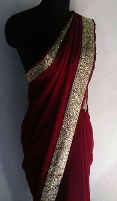 J Lindeberg Womens Golf Clothing Trendy Sarees, Stylish Sarees, Fancy Sarees, Party Wear Sarees, Saree Blouse Patterns, Saree Blouse Designs, Indian Dresses, Indian Outfits, Sarees For Girls