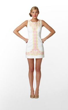 Delia Dress in Resort White Catch A Ray Embroidery $258 (w/o 4/29/12) #fashion #style