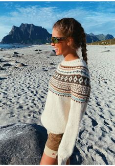 ByFin-genser (Natur) Your Photos, Jumper, Cover Up, Beige, Photo And Video, Shorts, Knitting, Hand Crafts, Dresses