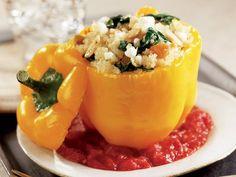 Thursday: Quinoa-Stuffed Peppers http://www.prevention.com/food/cook/easy-quinoa-recipes/slide/6