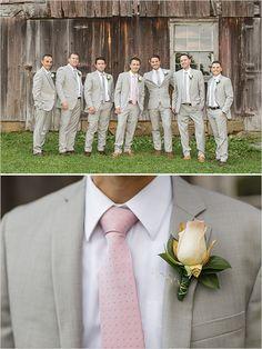 Tommy Hilfiger light gray suits @weddingchicks