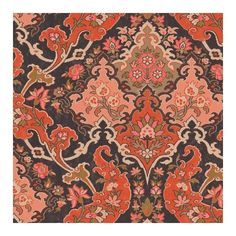Cole & Son Wallpaper Pushkin Wallpaper ($115) ❤ liked on Polyvore featuring home, home decor, wallpaper, red pattern wallpaper, brown damask wallpaper, damask pattern wallpaper, inspirational home decor and motivational wallpaper