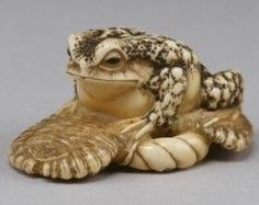 Toad Sitting on a Sandal. Nineteenth century. Japan. The Walters.