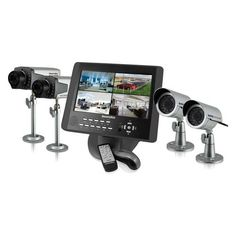 """SecurityMan LCDDVR4-80K Complete 4-Camera CCTV System with 2 Indoor and 2 Outdoor Color CCD with Night Vision and 10.2-Inch LCDDVR 80 GB by Securityman. $799.00. Complete 4-camera CCTV system - 2 x indoor & 2 x outdoor color CCD /w night vision, plus 10.2"""" LCDDVR-80GB. Save 20% Off!"""
