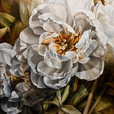 Layers of White, by Linda Thompson; acrylic