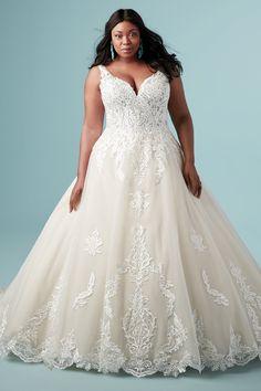 Lace Wedding Dress, Maggie Sottero Wedding Dresses, Best Wedding Dresses, Designer Wedding Dresses, Wedding Dresses For Busty Brides, Modest Wedding, Ball Dresses, Ball Gowns, Plus Size Wedding Gowns