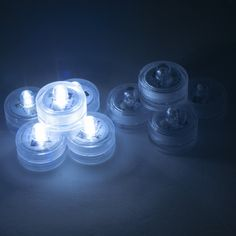 Weanas® 12x White LED Submersible Tea Light Tealight Candles with Remote Control Replaceable Coin Battery Underwater Waterproof Lamp One Dozen for Christmas Birthday Wedding Party Occasion Use(12, White)
