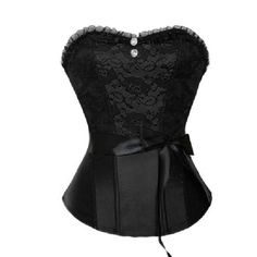 Elegant Black Lace Corset | Corset Tops | Corsets