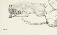 Dead monkey 1944 Lucian Freud