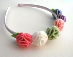 Items similar to Spring into Summer Wool Felt Headband- Pastel Candy Colors on Etsy Felt Diy, Felt Crafts, Diy Crafts, Felt Headband, Baby Headbands, Felt Flowers, Fabric Flowers, Felt Hair Accessories, Diy Hair Bows