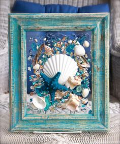Beach Decor of Seashell Art, Beach Bathroom Decor Wall Hanging, Coastal Wall Art of Shells on Glass, Coastal Decor of Seashell Glass Art Seashell Art, Seashell Crafts, Beach Crafts, Sea Glass Crafts, Sea Glass Art, Clear Glass, Coastal Wall Art, Coastal Decor, Shell Decorations