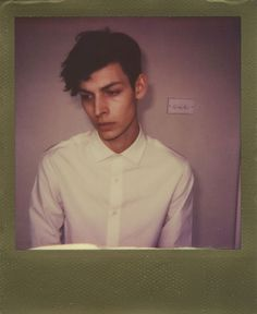 Flint Hignett at Elite Models. Instant Analogue by Cecilie Harris. Special thanks to Impossible.