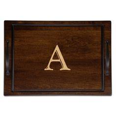 Martins Homewares Tobacco Maple Carve and Serve Board Letter: S