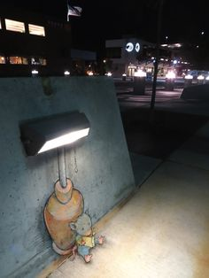 Delightful 3D Chalk Art Playfully Interacts With Objects On The Streets - DesignTAXI.com Artist David Zinn