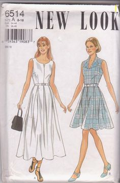 Sewing pattern for sleeveless summer dress with by beththebooklady, $9.99