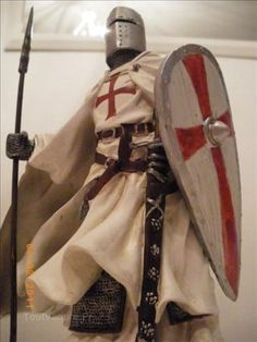 A modern take on what the knights armor may have looked like during the first crusade.