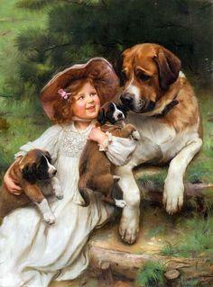 Художник Чарльз Бартон Барбер. Дети и собаки