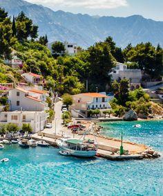 Amazing Adriatic bay at Split, Croatia.