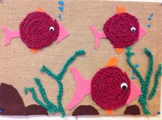 Fish Crafts, Crafts To Do, Yarn Crafts, Crafts For Kids, Arts And Crafts, Textiles, Recycled Crafts, Easy Crochet, Textile Art