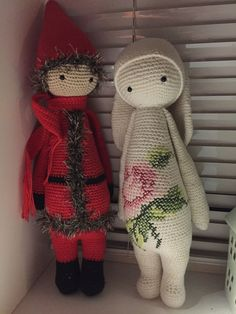 Santa mod and RITA then rabbit made by Lene Margarete P. / crochet pattern by lalylala