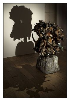 beautiful silhouettes out of dead animals