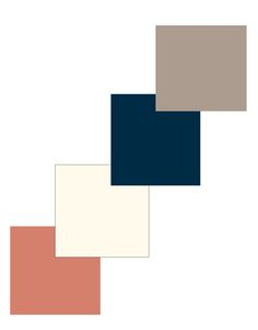 logo colors: taupe, navy, ivory and peach