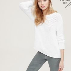 Loft sweater washed and worn No trades Make me a offer LOFT Sweaters Crew & Scoop Necks