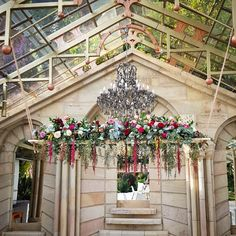 Beautiful suspended arrangement for above the bride & grooms main table, at their wedding. Designed with beautiful rich tones by Bliss Floral Creations Grooms, Personalized Wedding, Floral Arrangements, Bliss, Floral Design, Christmas Tree, Weddings, Holiday Decor, Flowers