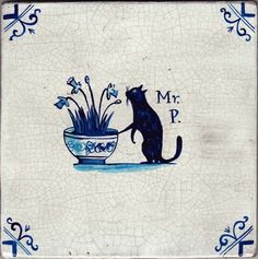 """""""Mr Pussy"""" tile by Paul Bommer"""