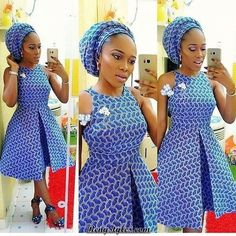 African Print Dresses and Short Aso Ebi Styles - Reny styles