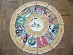 Ideenreise: Verschiedene Legekreise zum Osterfest (Gastautorin... Waldorf Kindergarten, Godly Play, Religious Education, Maria Montessori, Longarm Quilting, Kids And Parenting, Crafts For Kids, Teaching, School