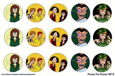 Daria Inspired Bottle Cap Images 25mm by pheonixfiredesigns, $1.25