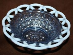 Blue Depression Glass - Fenton Small Bowl by nell