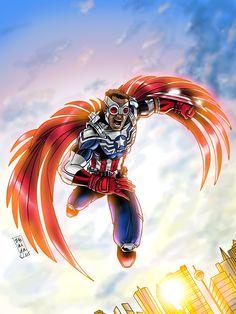 Captain America by Byron Zuñiga #Falcon