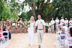 Bride and Groom Ceremony Exit Just Married | Chico-California-Backyard-Wedding-4th-of-July-Wedding